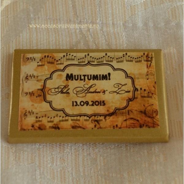 Marturii Nunta Dulci-Ciocolata personalizata tematica Muzicala
