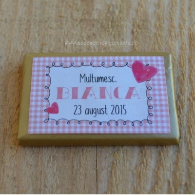 Marturii Nunta Dulci-Ciocolata personalizata tematica Baby Bear