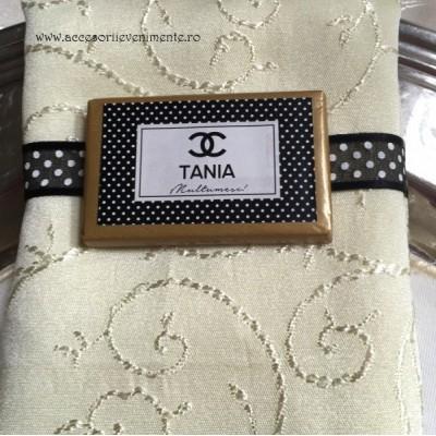 Marturii Nunta Dulci-Ciocolata personalizata tematica Chanel