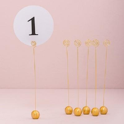 Numere masa-Suport numere de masa auriu - set 6 buc