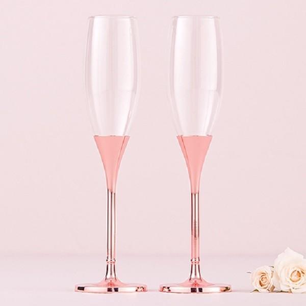 Pahare de nunta-Pahare sampanie Rose Diamond