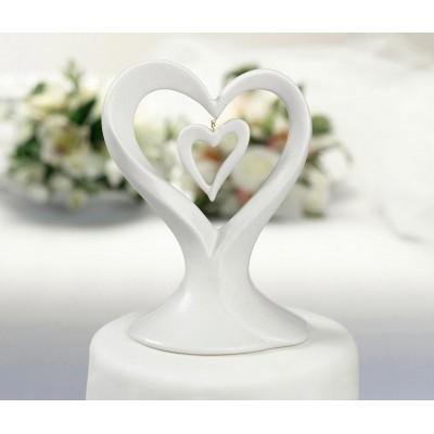 Figurine tort-Figurina tort inima portelan