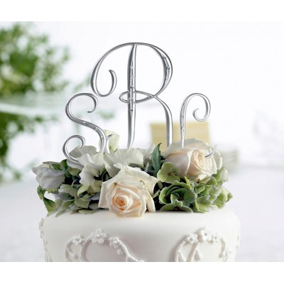 Figurine tort-Monograma Tort Argintie