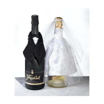 Diverse accesorii pentru nunta-Imbracaminte Sticla Mire si Mirea
