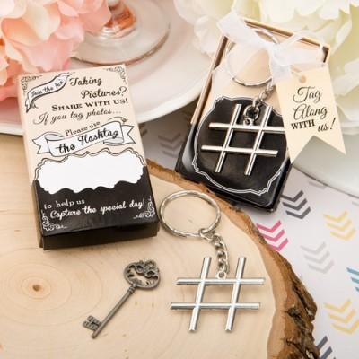 Cadouri argint si crom-Breloc Hashtag Love