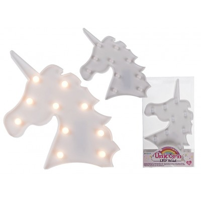 Cadouri Nou-Nascuti-Decoratiune Led Unicorn Alb