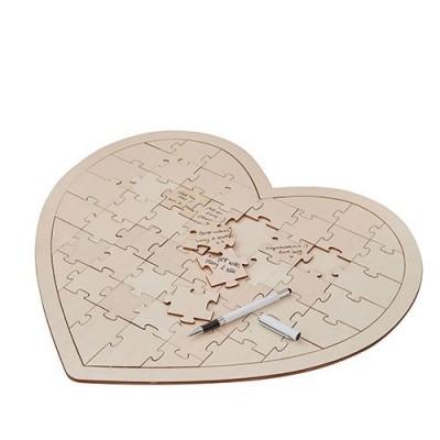 Caiet impresii-Caiet impresii nunta Puzzle Inima