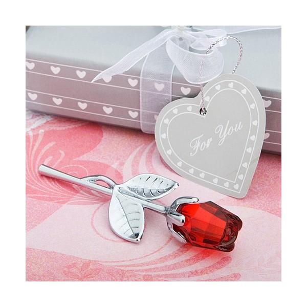 Marturii Fashioncraft A-Z-Trandafir Rosu Cristal