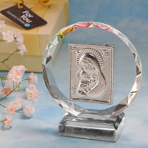 Iconita Cristal Rotunda Marturii Botez Accesoriko