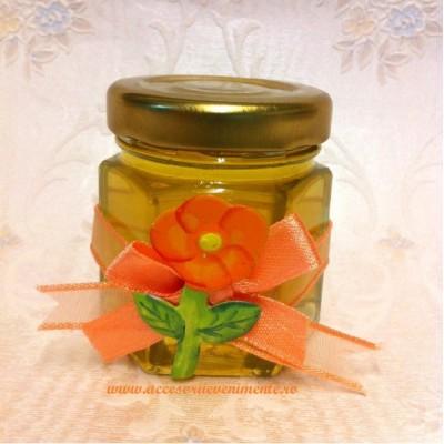 Marturii nunta borcanase miere-Marturii Borcan Miere Floare