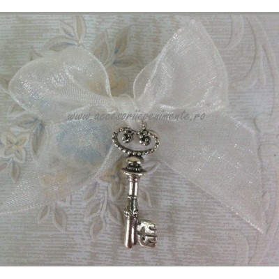 Home-Cocarda Nunta Cheie Argintie