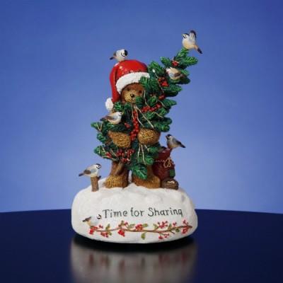 Decoratiuni Craciun-Figurina Muzicala Ursulet Craciun