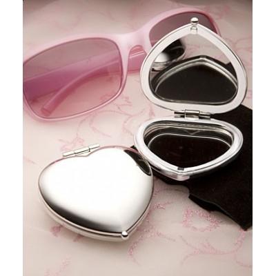 Accesorii oglinda-Oglinda Inima Argintie