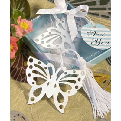 Semn de Carte Fluture Argintiu