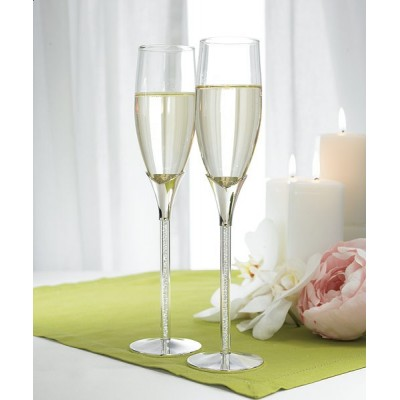 Pahare de nunta-Pahare sampanie picior cristale
