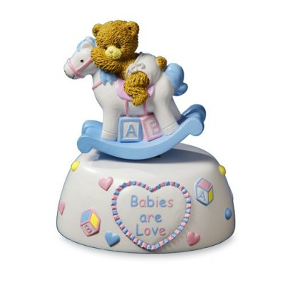 Cadouri botez si nou nascuti-Figurina Muzicala Baby Ursulet