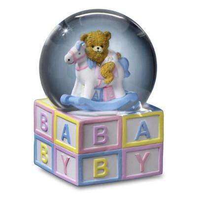globuri muzicale camera bebe-Glob Muzical Baby Ursulet ABC