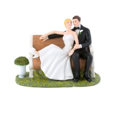 """Figurine tort-Figurina tort \\""""Pe bancuta in parc\\"""""""