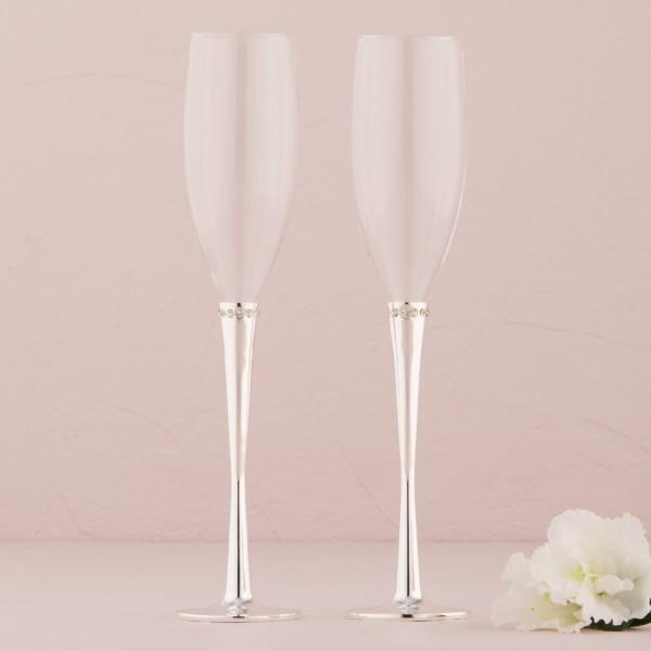 Pahare de nunta-Pahare sampanie colectia Platinum