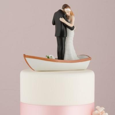 Figurine tort-Figurina tort comica In barca