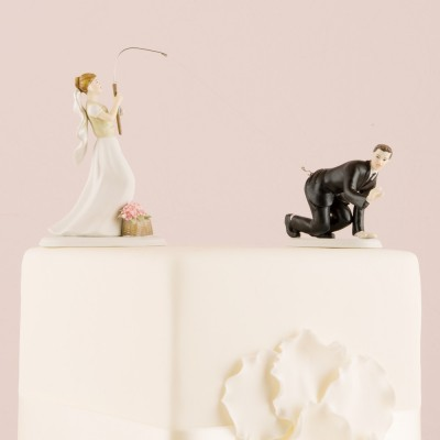 "Figurine tort-Figurina tort comica \\""La Pescuit\\"""