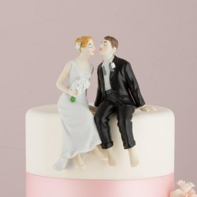 Figurine tort-Figurina tort comica Desculti pe tort