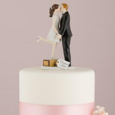 Figurine tort-Figurina tort comica Pe valiza