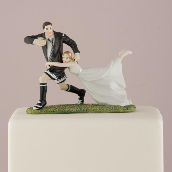 Figurine tort-Figurina tort comica Rugby