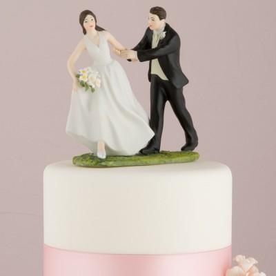 Figurine tort-Figurina tort comica Fuga la altar