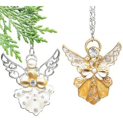 Globuri Craciun-Ornament pom Inger auriu/argintiu