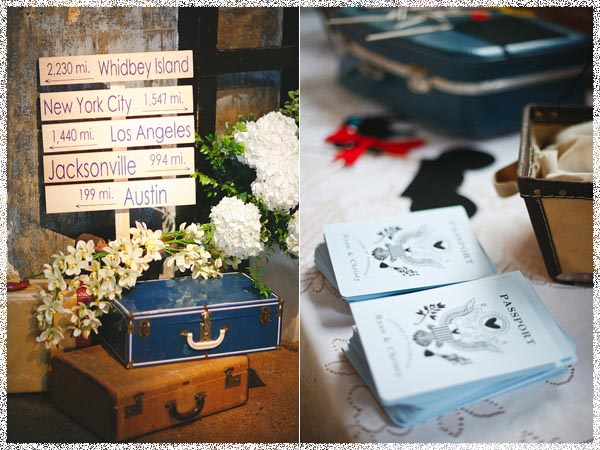 Whimsical Travel Yellow White Bridal Wedding Bouquet Arrangement